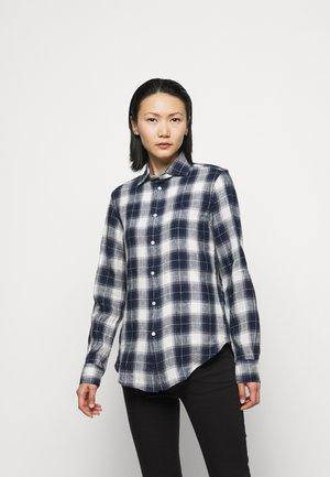 PLAID - Button-down blouse - navy/white