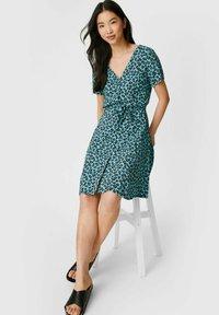 C&A - Day dress - dark turquoise - 0