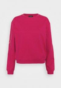 Even&Odd - Basic Crew neck regular fit - Sweatshirt - pink - 0