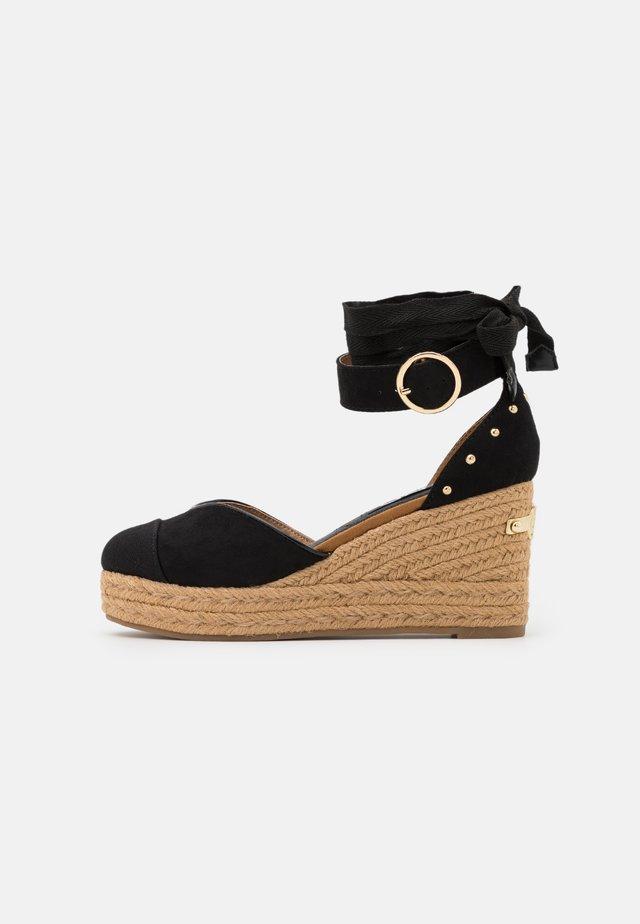 Scarpe con plateau - black