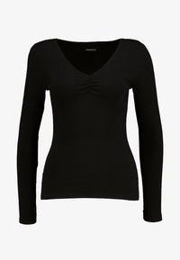 Even&Odd - Topper langermet - black - 3