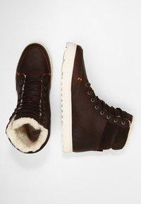 HUB - DUBLIN MERLINS - Sneakers high - dark brown/off white - 1