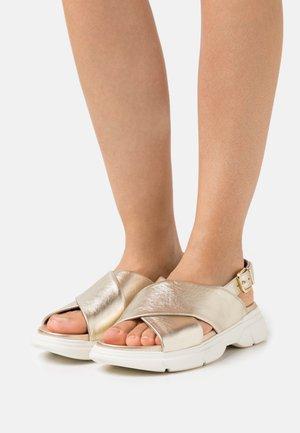 VITALITY - Platform sandals - platin metallic