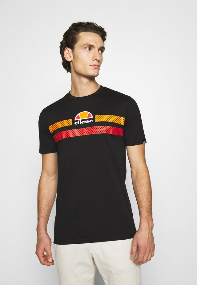 GLISENTA - T-shirt z nadrukiem - black