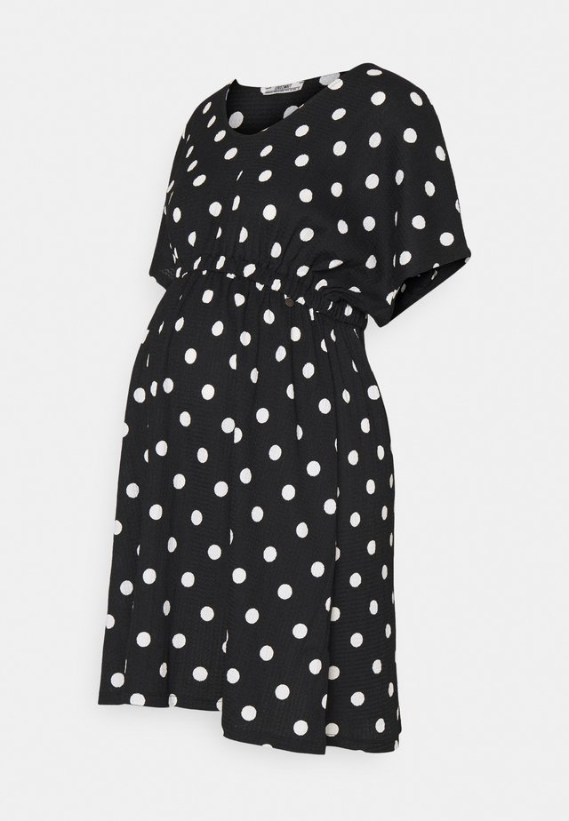 DRESS NURSING DOTS - Korte jurk - black