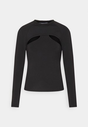 SHELLY LAYER LONG SLEEVE - Top s dlouhým rukávem - black