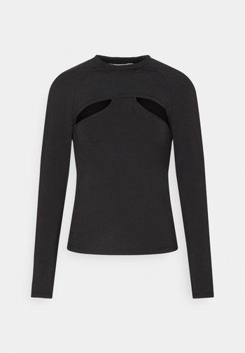SHELLY LAYER LONG SLEEVE - Long sleeved top - black