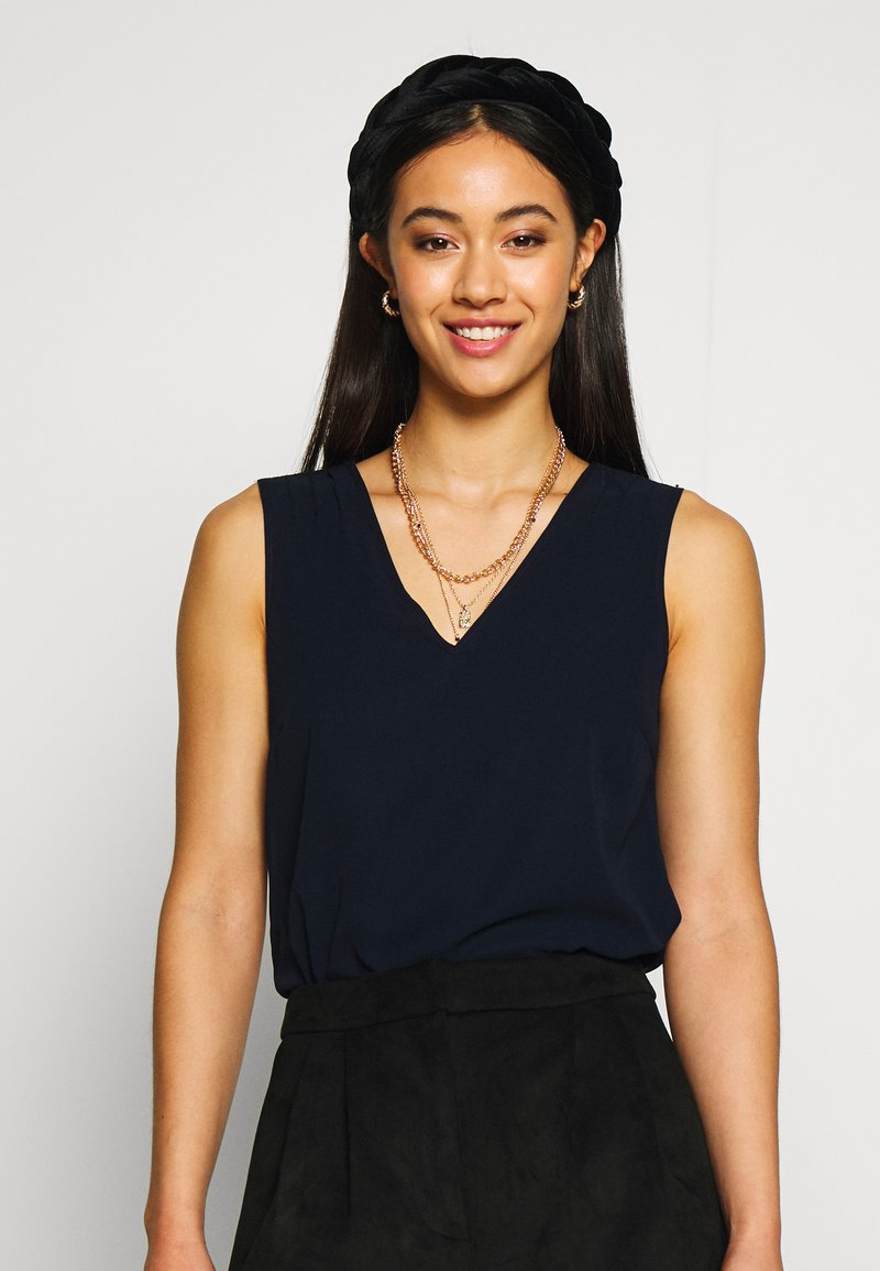 Vero Moda - VMJULIAN V-NECK  - Top - night sky