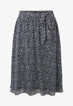 SKIRT CHIFFON - A-line skirt - navy