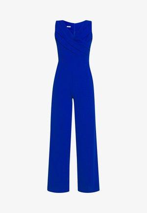 WRAP OVER - Tuta jumpsuit - electric blue