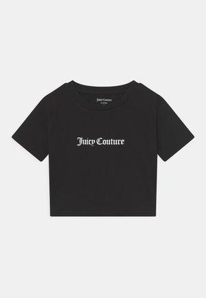 CROP BOXY TEE - T-shirt imprimé - black