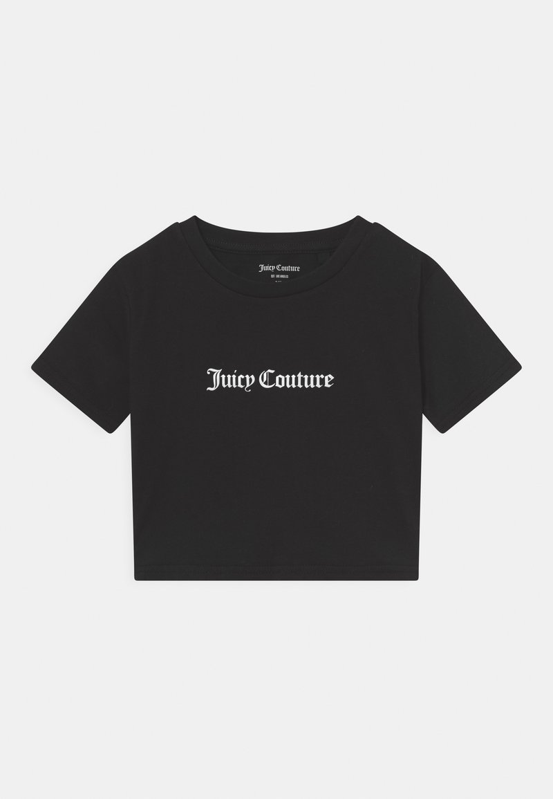 Juicy Couture - CROP BOXY TEE - Triko spotiskem - black