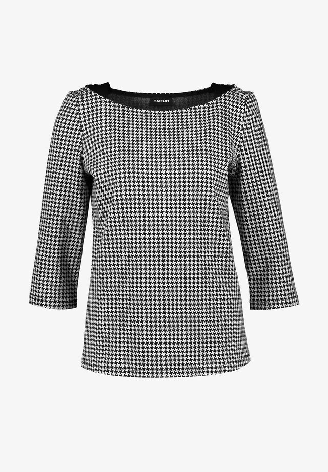 MIT HAHNENTRITTMUSTER - Blouse - black gemustert
