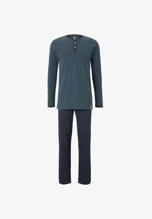 SET - Pyjamas - blue-dark-horizontal stripe