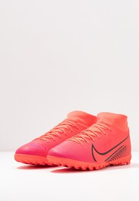 Nike Performance - MERCURIAL 7 ACADEMY TF - Astro turf trainers - laser crimson/black - 2