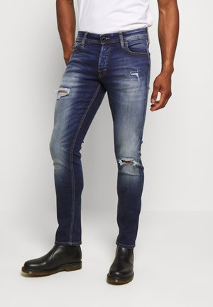 JJIGLENN JJORIGINAL GE - Jeans slim fit - blue denim