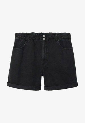 PAPERBAG - Jeansshorts - black denim