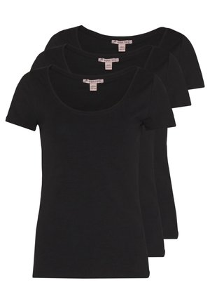 3 PACK - T-shirt - bas - black