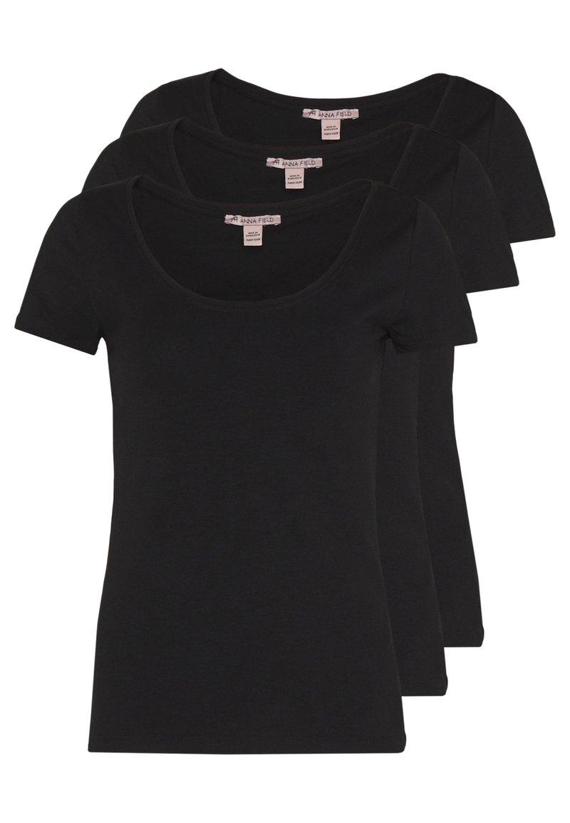 Anna Field - 3 PACK - Basic T-shirt - black