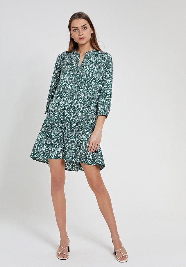 Korte jurk - hunter green