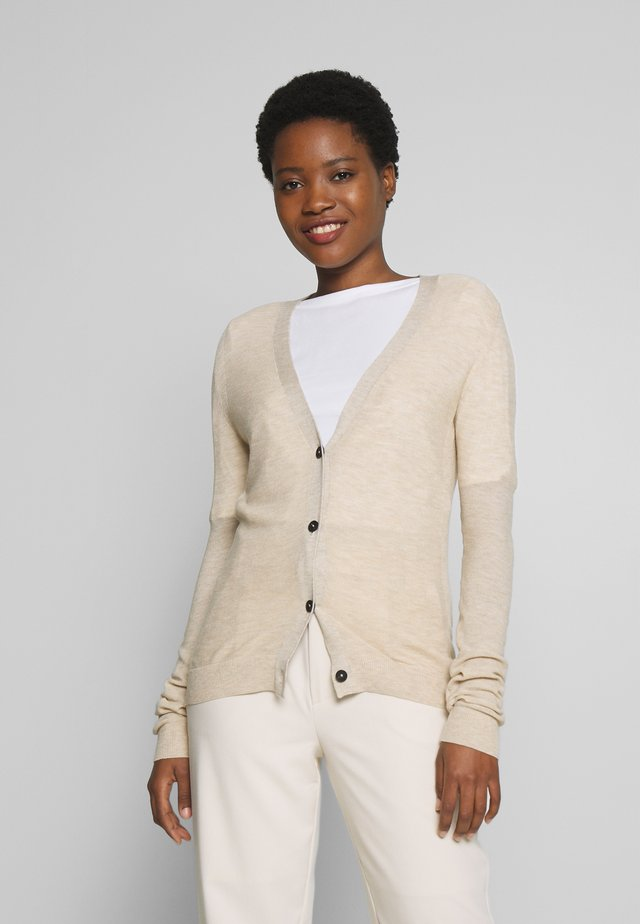 Sweter - coarse sand melange/brown