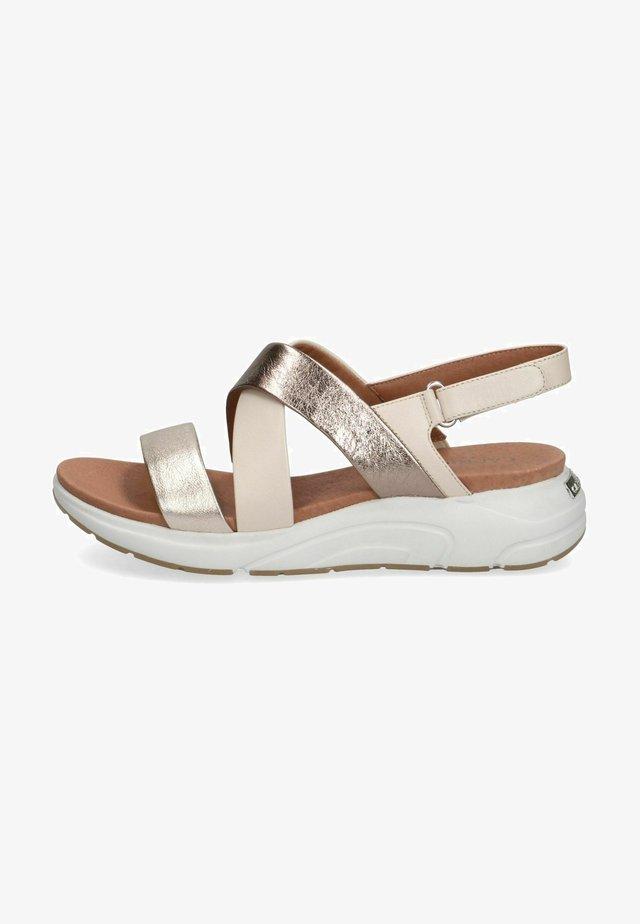 Sandales à plateforme - platino comb