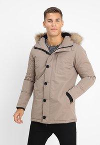 Brave Soul - CHEETAH - Winter jacket - stone - 0