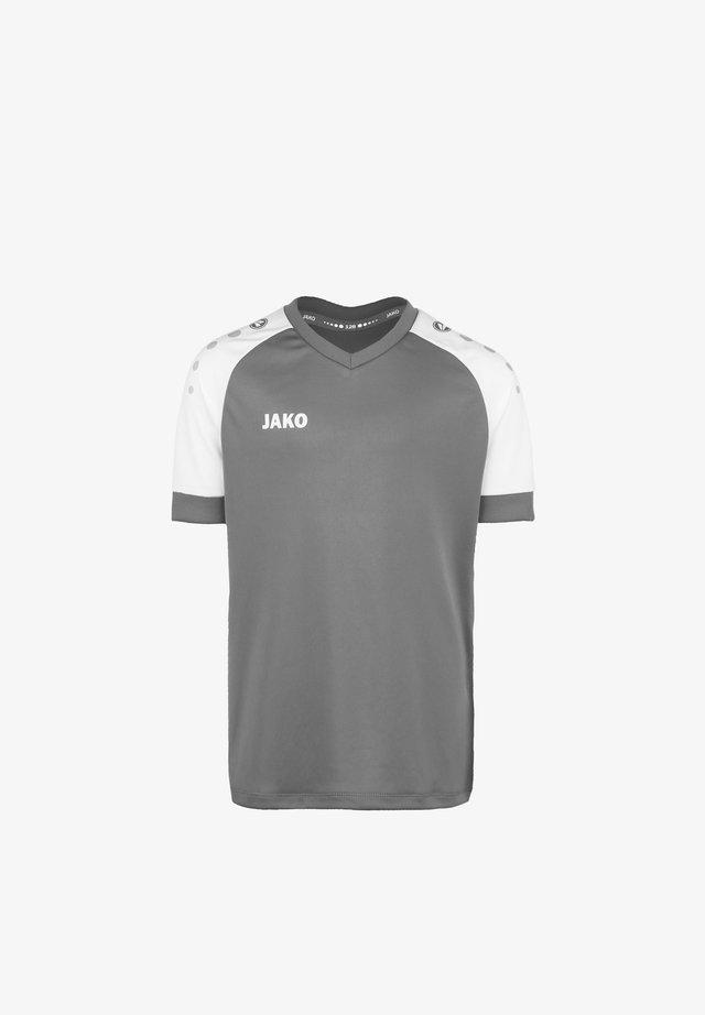 CHAMP  - Print T-shirt - steingrau / weiss