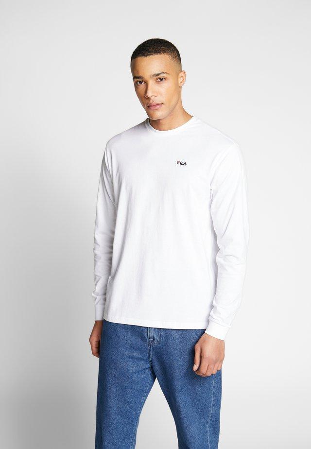 EITAN LONG SLEEVE - T-shirt à manches longues - bright white