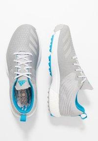 adidas Golf - ADIPOWER 4ORGED S - Golfsko - grey two/footwear white/shock cyan - 1