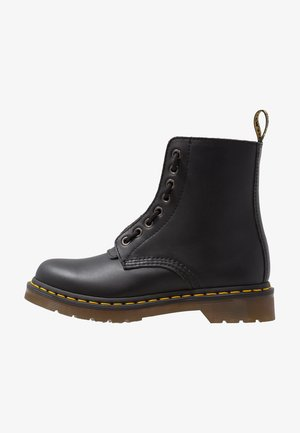 1460 PASCAL FRNT ZIP 8 EYE BOOT - Bottines à lacets - black