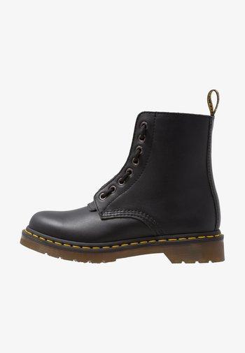 1460 PASCAL FRNT ZIP 8 EYE BOOT - Veterboots - black