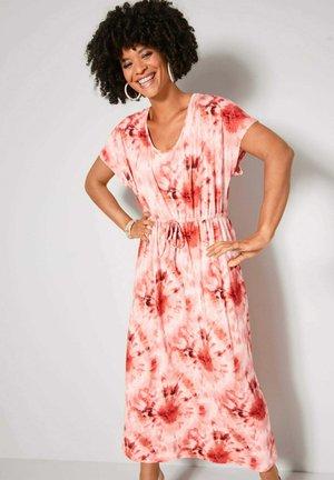 Maxi dress - pink,vanille,koralle