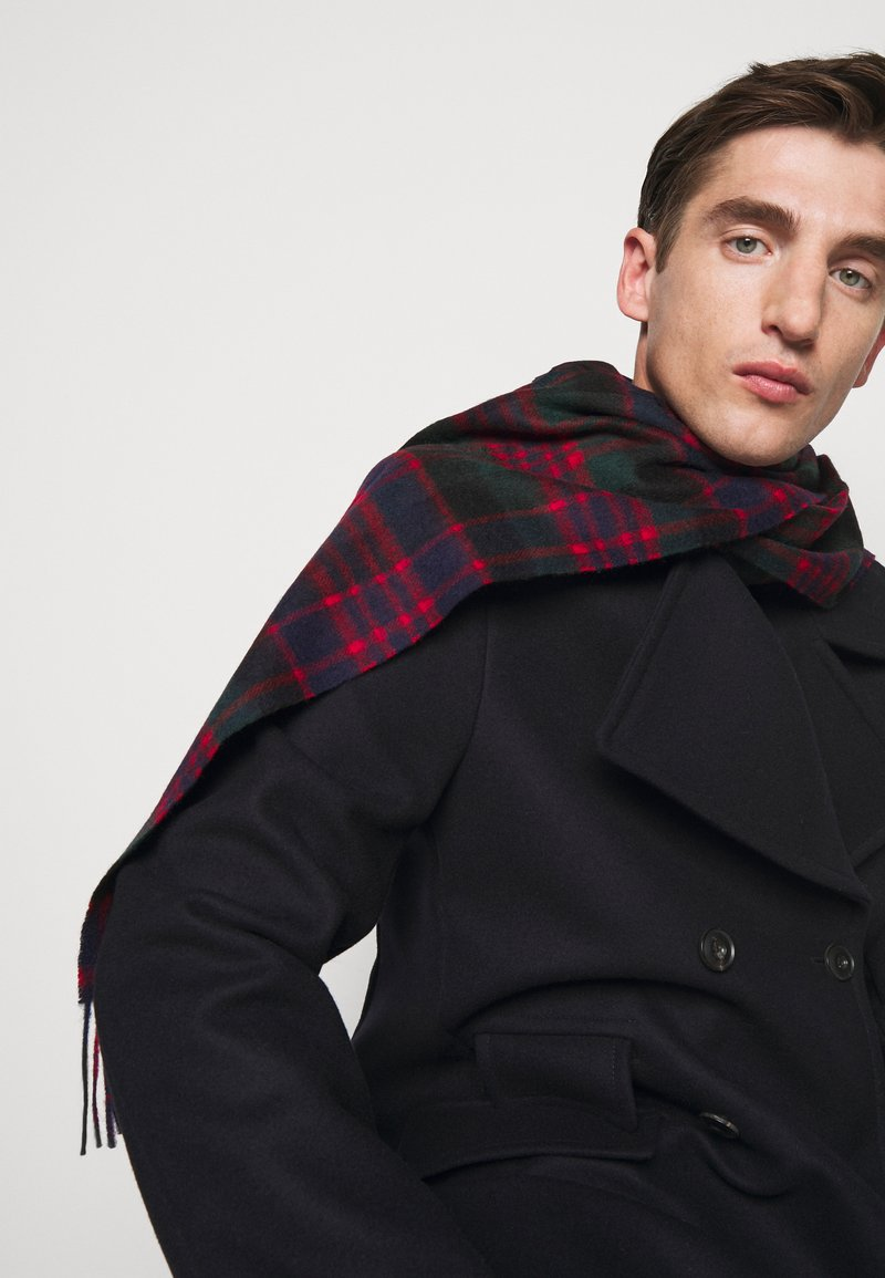 Barbour - NEW CHECK TARTAN SCARF - Scarf - blue/green