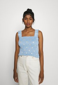 Pieces - PCMARY STRAP SMOCK - Toppe - blue fog - 0