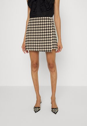 RENNA WRAP MINI SKIRT - Wrap skirt - almond/black