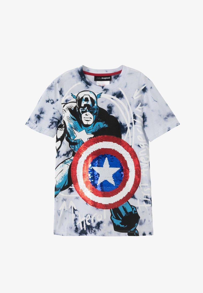Desigual - MARVEL - Print T-shirt - blue