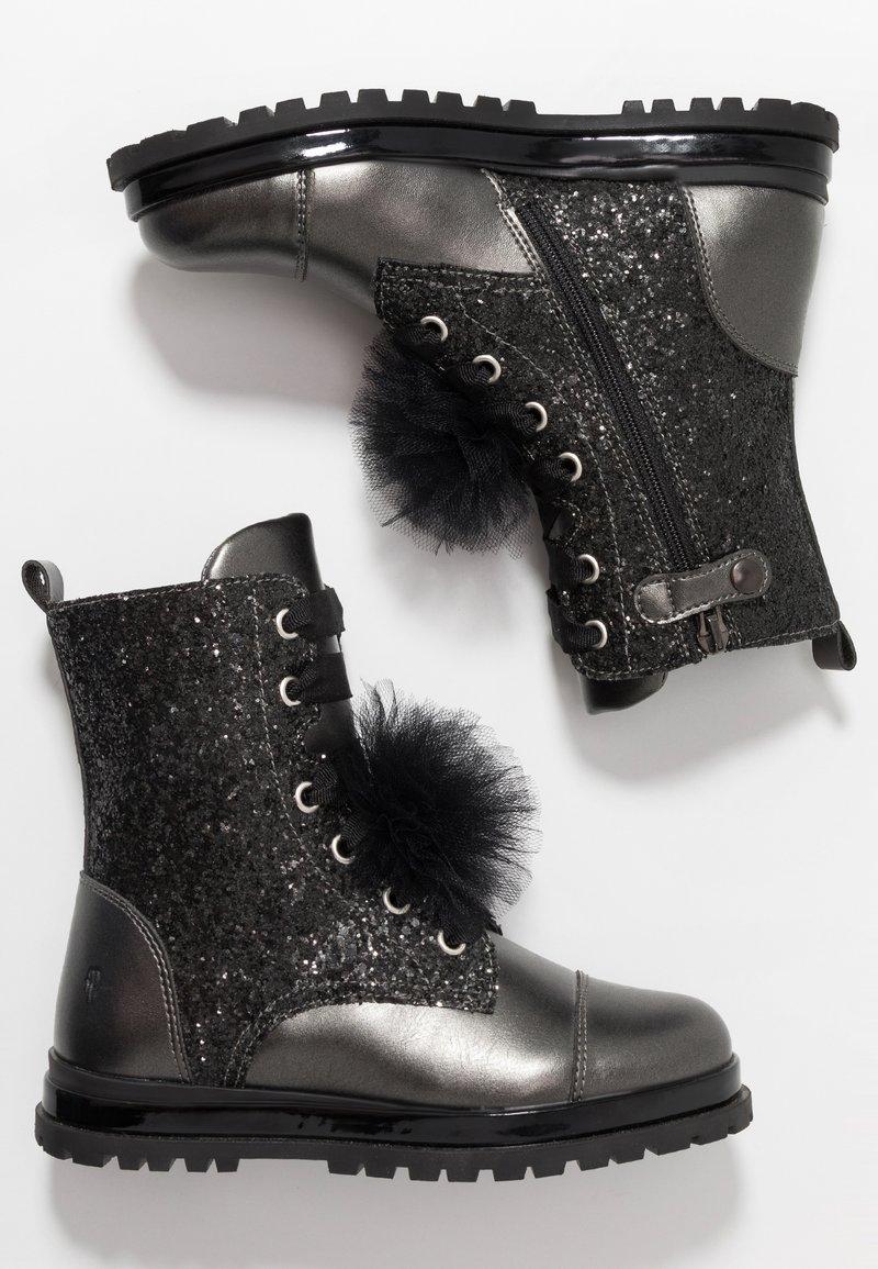 Primigi - Šněrovací kotníkové boty - asfalto/nero