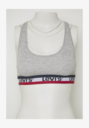 LOGO TAPE SPORTS BRA - Bustier - lt heather grey
