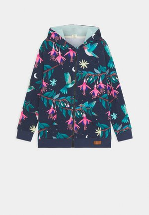 ZIP THROUGH JACKET HUMMINGBIRDS UNISEX - Felpa aperta - dark blue/green