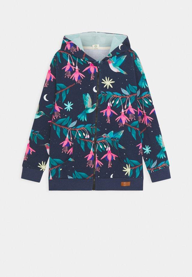 ZIP THROUGH JACKET HUMMINGBIRDS UNISEX - Hoodie met rits - dark blue/green