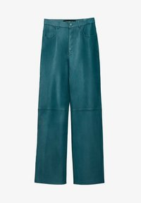 Uterqüe - Leather trousers - green - 5