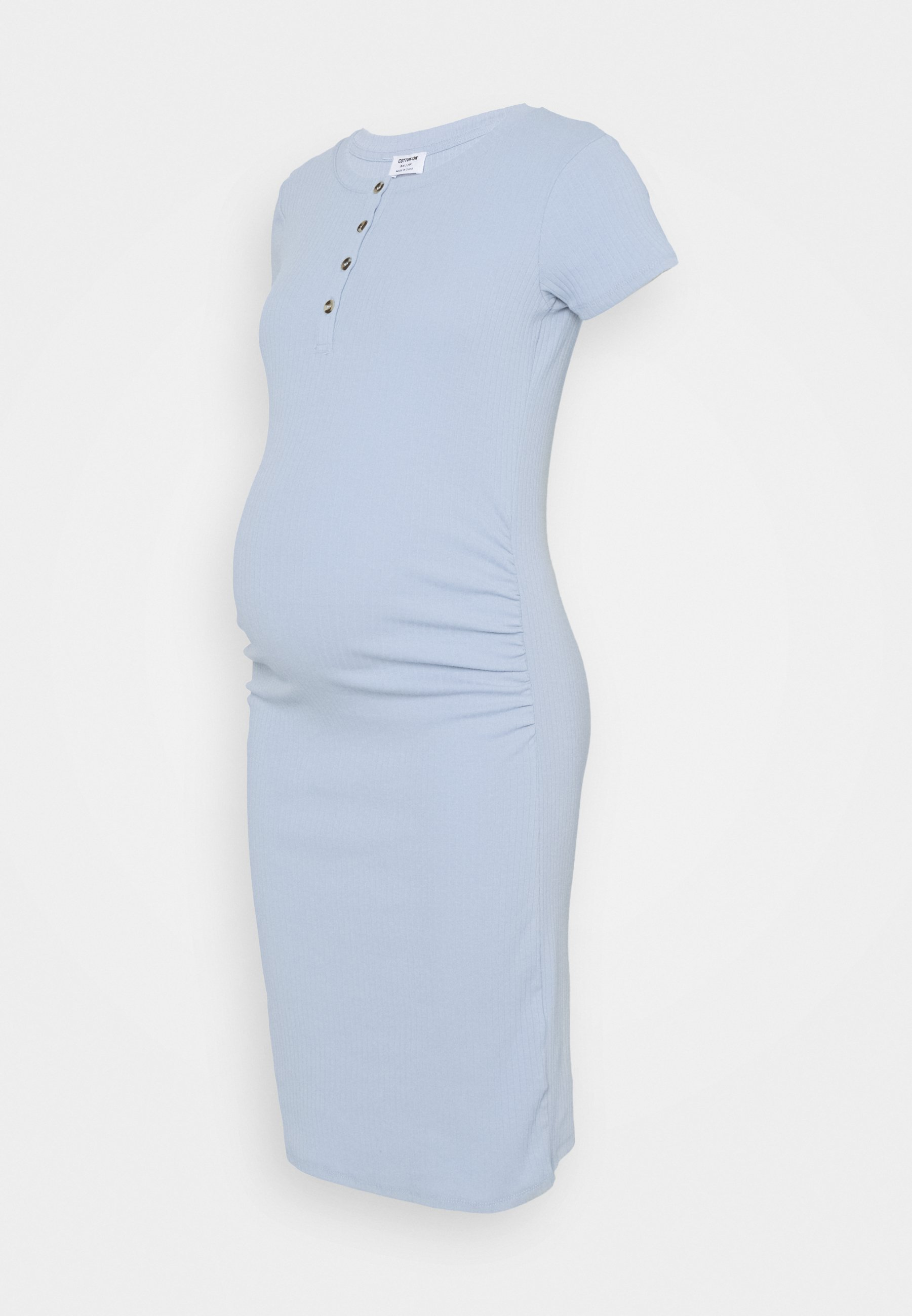 Women MATERNITY ROUCHED SHORT SLEEVE DRESS - Jersey dress