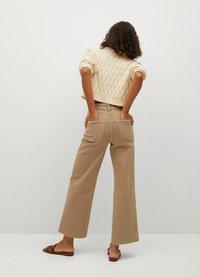 Mango - Trousers - open beige - 2