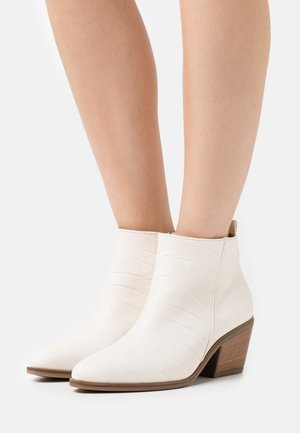 Cowboy/biker ankle boot - offwhite