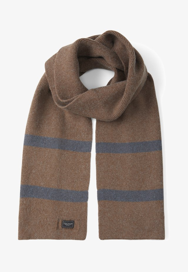 Scarf - brown oak melange