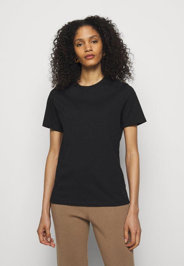SUZANA CLASSIC TEE - Jednoduché triko - black