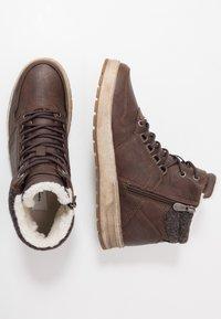 TOM TAILOR - Höga sneakers - brandy - 1