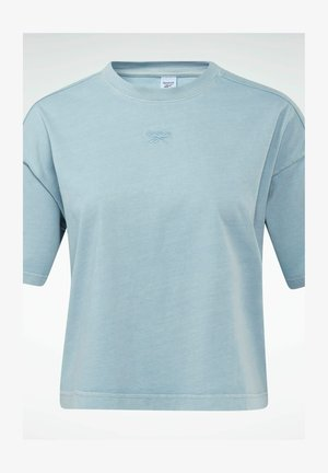 REEBOK CLASSICS NATURAL DYE CROPPED T-SHIRT - Camiseta básica - grey
