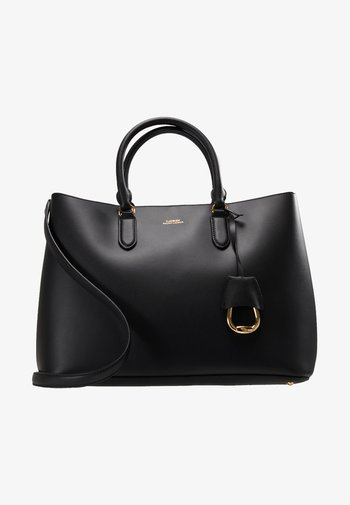 MARCY SATCHEL LARGE - Shopping bag - black/red